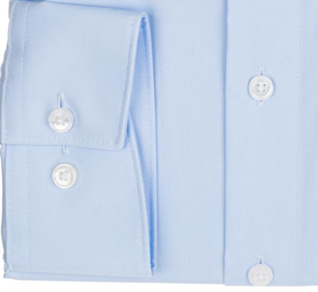 OLYMP vasalásmentes férfi ing világoskék rövidített ujjú - mandzsetta