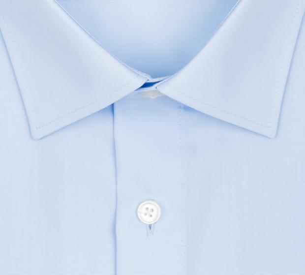 OLYMP vasalásmentes férfi ing világoskék rövid ujjú  - gallér