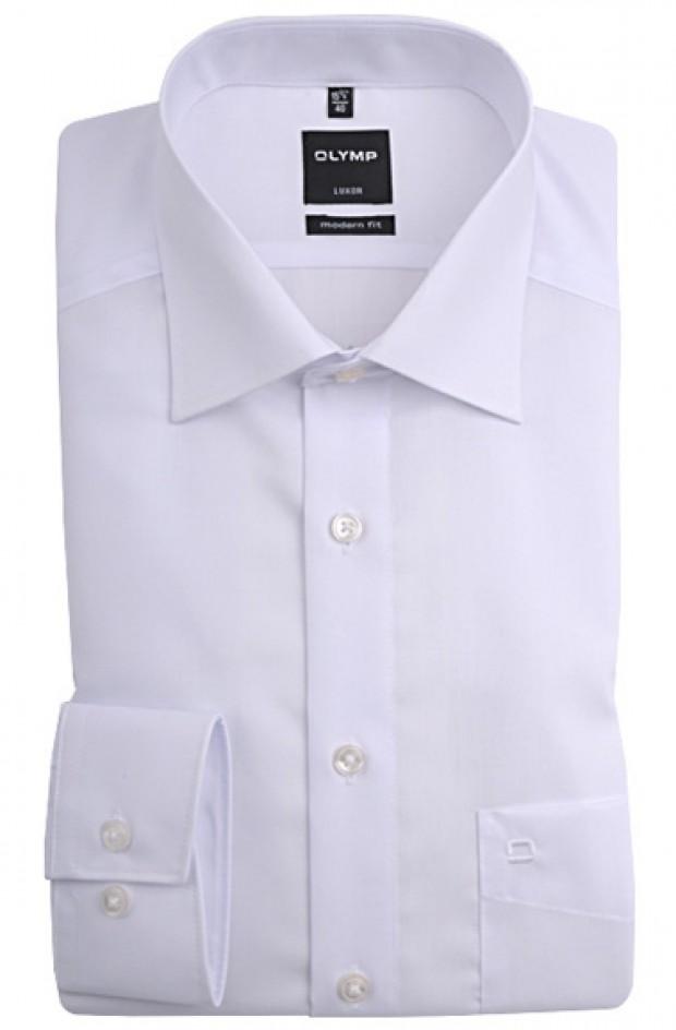 OLYMP vasalásmentes férfi ing karcsúsított fehér hosszított ujjú