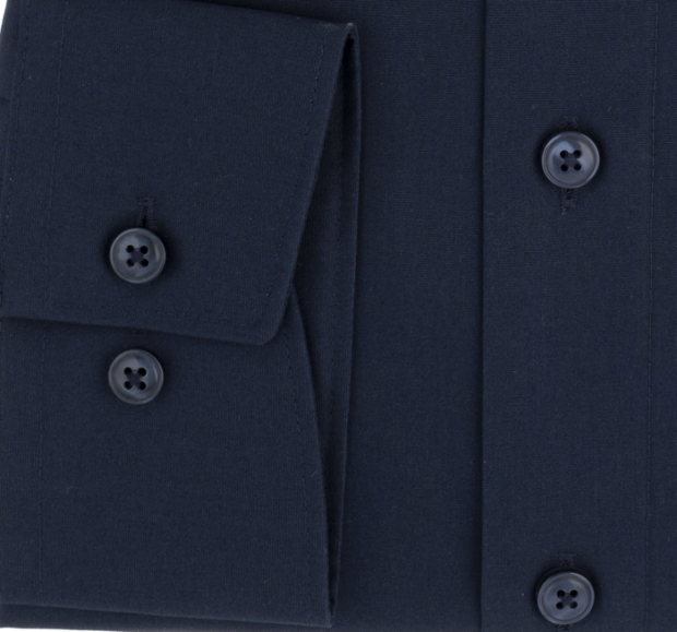 OLYMP vasalásmentes férfi ing karcsúsított sötétkék - mandzsetta