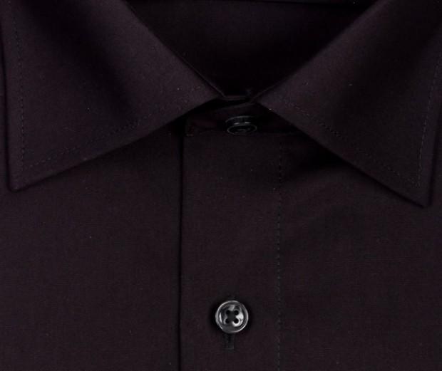 OLYMP vasalásmentes férfi ing karcsúsított fekete hosszított ujjú - gallér