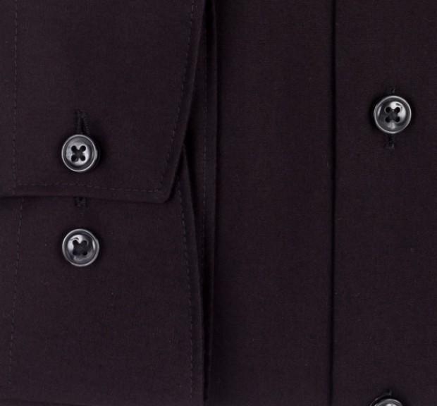 OLYMP vasalásmentes férfi ing karcsúsított fekete hosszított ujjú - mandzsetta