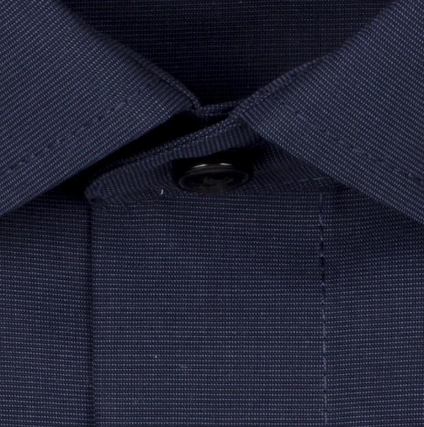OLYMP vasalásmentes férfi ing karcsúsított sötétkék - anyag