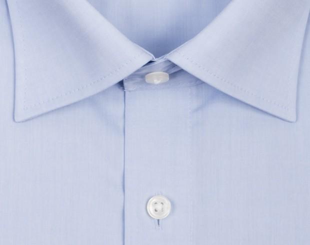 OLYMP vasalásmentes férfi ing karcsúsított világoskék rövidített ujjú - gallér