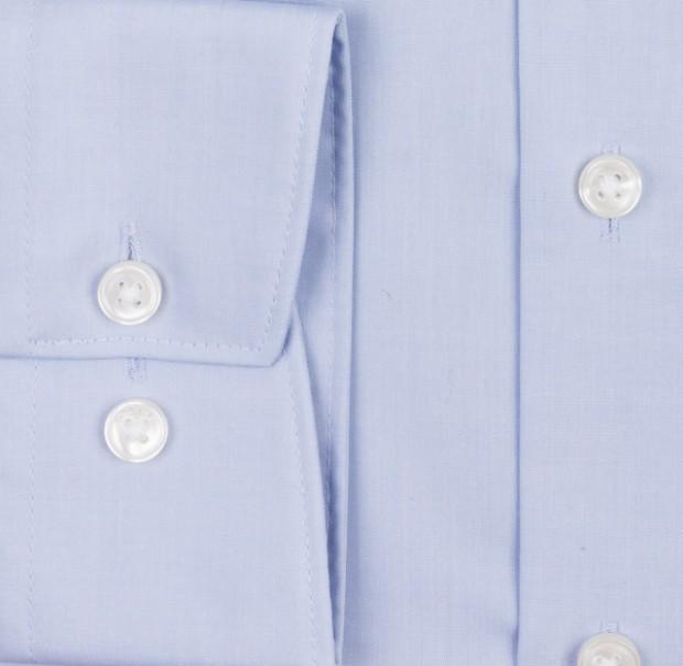 OLYMP vasalásmentes férfi ing karcsúsított világoskék rövidített ujjú - mandzsetta