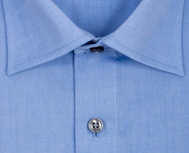 OLYMP vasalásmentes férfi ing karcsúsított kék hosszított ujjú - gallér