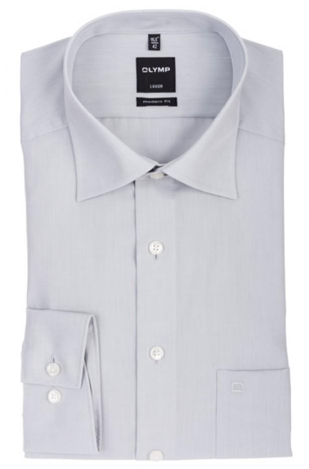 OLYMP vasalásmentes férfi ing karcsúsított világosszürke