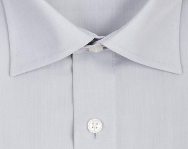 OLYMP vasalásmentes férfi ing karcsúsított világos szürke - gallér