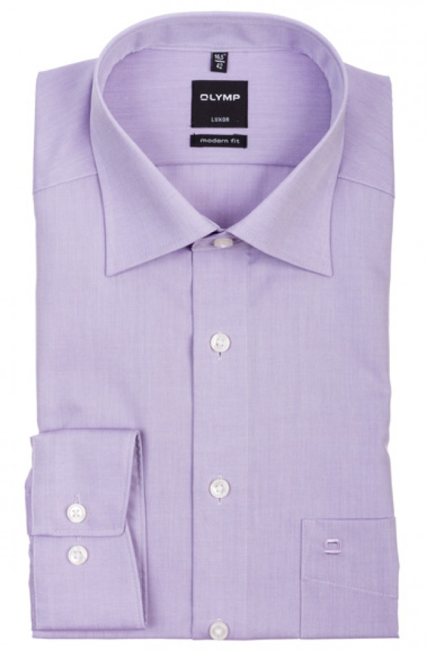 OLYMP vasalásmentes férfi ing karcsúsított lila