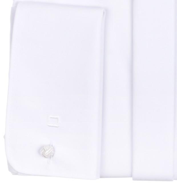 OLYMP vasalásmentes férfi ing karcsúsított fehér gála - dupla mandzsetta