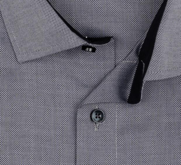 OLYMP vasalásmentes férfi ing karcsúsított szürke mintás - gallér