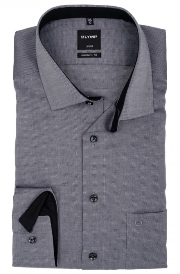 OLYMP vasalásmentes férfi ing karcsúsított szürke mintás