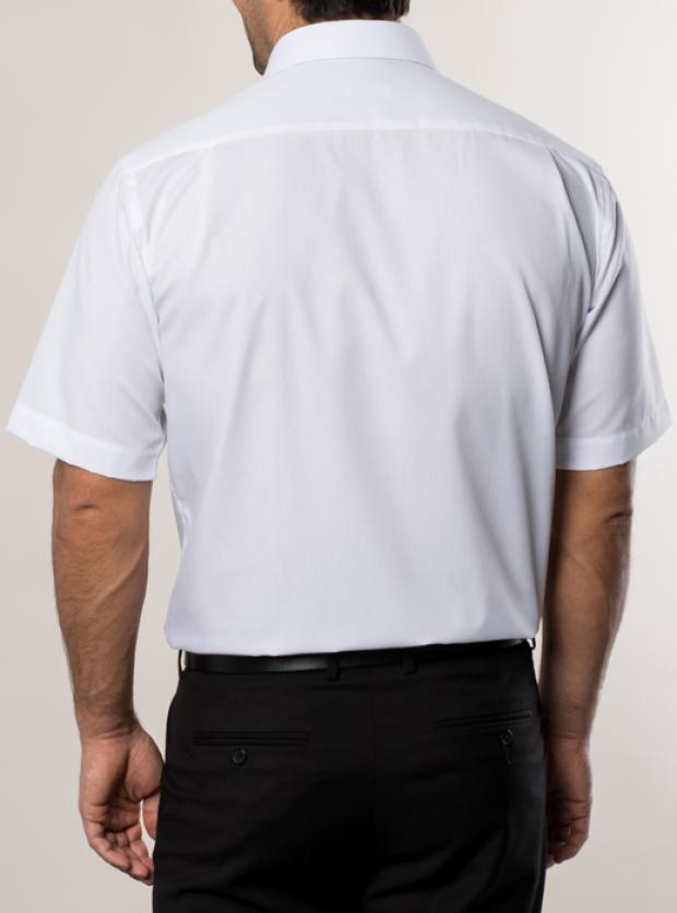 eterna vasalásmentes férfi ing fehér rövid ujjú - hát