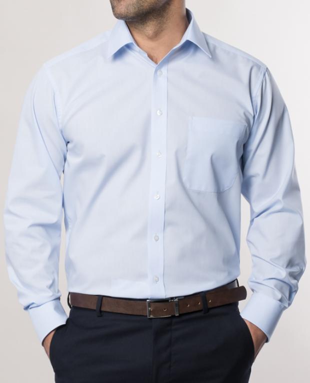 eterna vasalásmentes férfi ing világoskék - modell