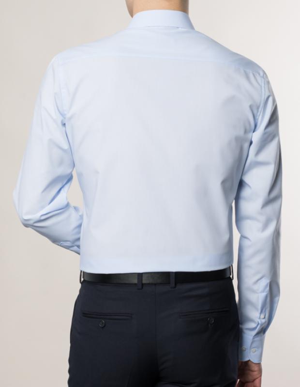 eterna vasalásmentes duplán karcsúsított férfi ing világoskék - modell hát