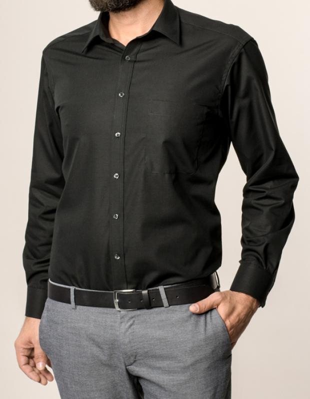 eterna vasalásmentes férfi ing fekete - modell