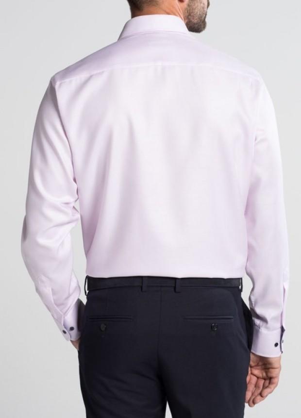 eterna vasalásmentes férfi ing rózsaszín anyagában mintás - hát