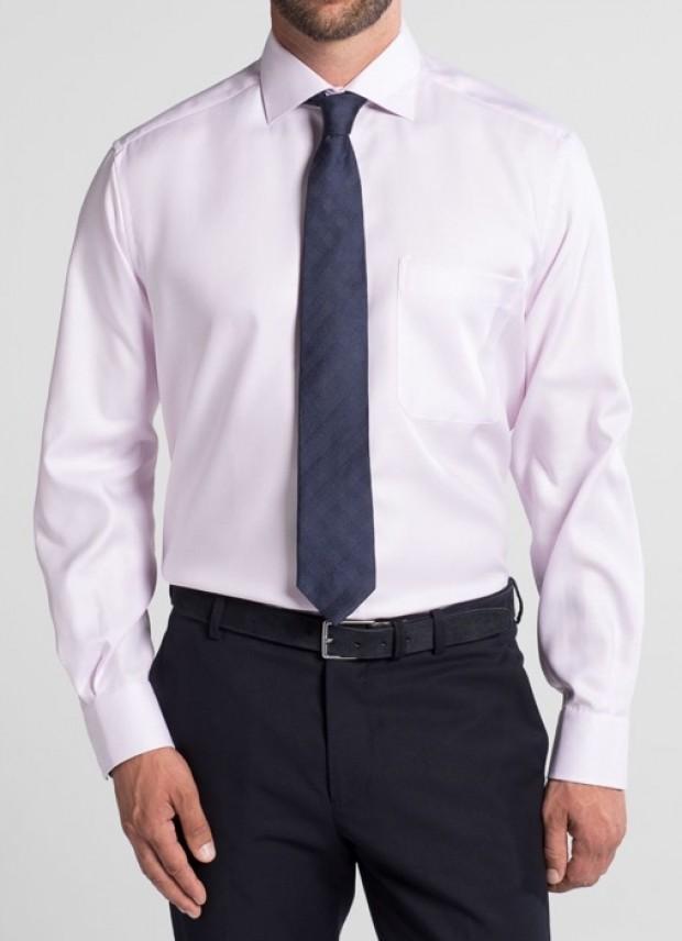eterna vasalásmentes férfi ing rózsaszín anyagában mintás - modell