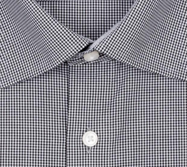 OLYMP vasalásmentes férfi ing fekete apró kockás - gallér