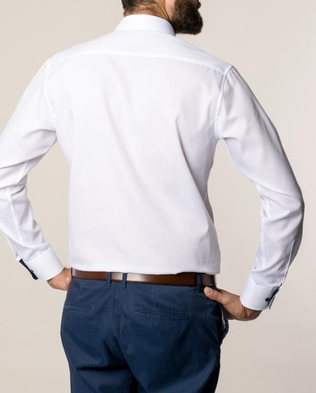 eterna vasalásmentes karcsúsított férfi ing fehér - hát