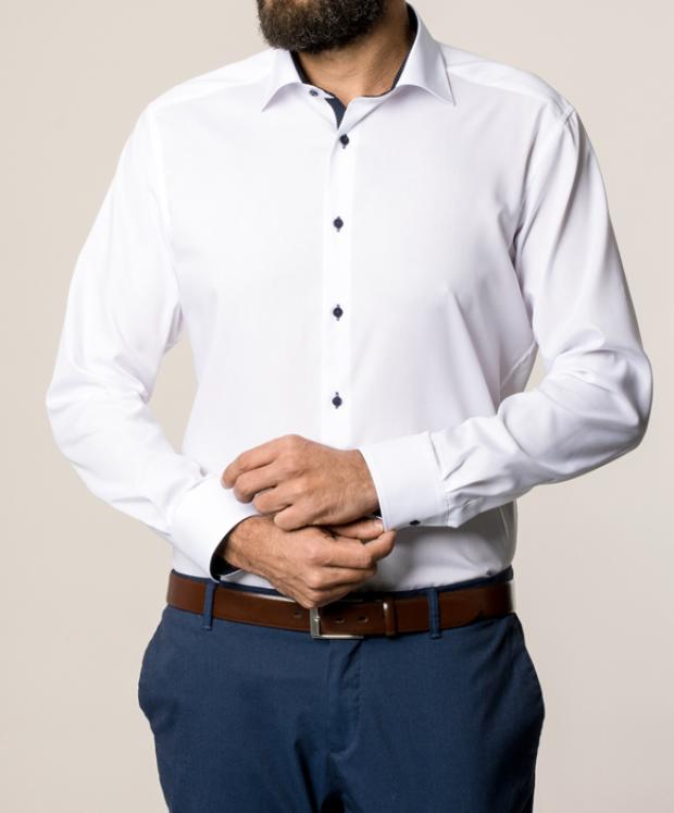 eterna vasalásmentes karcsúsított férfi ing fehér - modell