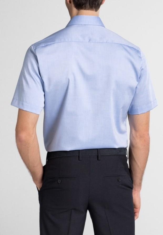 eterna vasalásmentes karcsúsított férfi ing kék rövid ujjú - hát
