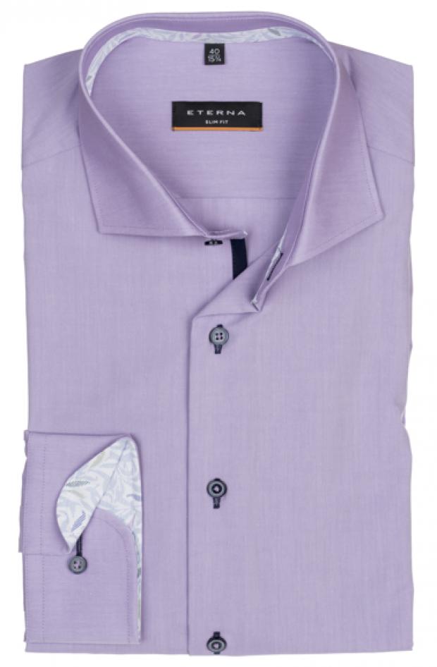 eterna vasalásmentes duplán karcsúsított férfi ing lila