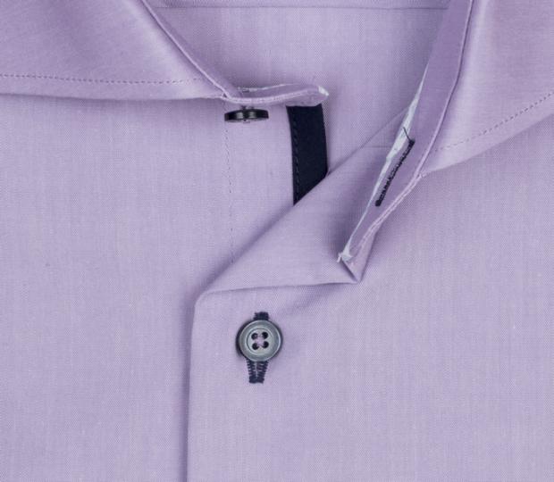 eterna vasalásmentes duplán karcsúsított férfi ing lila - gallér