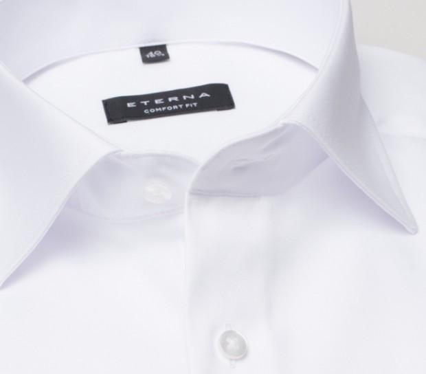 eterna vasalásmentes férfi ing fehér hosszított ujjú - gallér