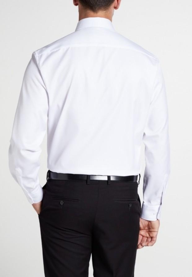 eterna vasalásmentes férfi ing fehér hosszított ujjú  - hát