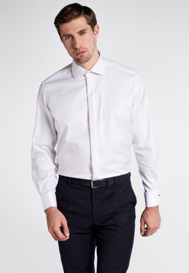 eterna vasalásmentes férfi ing fehér gála - modell