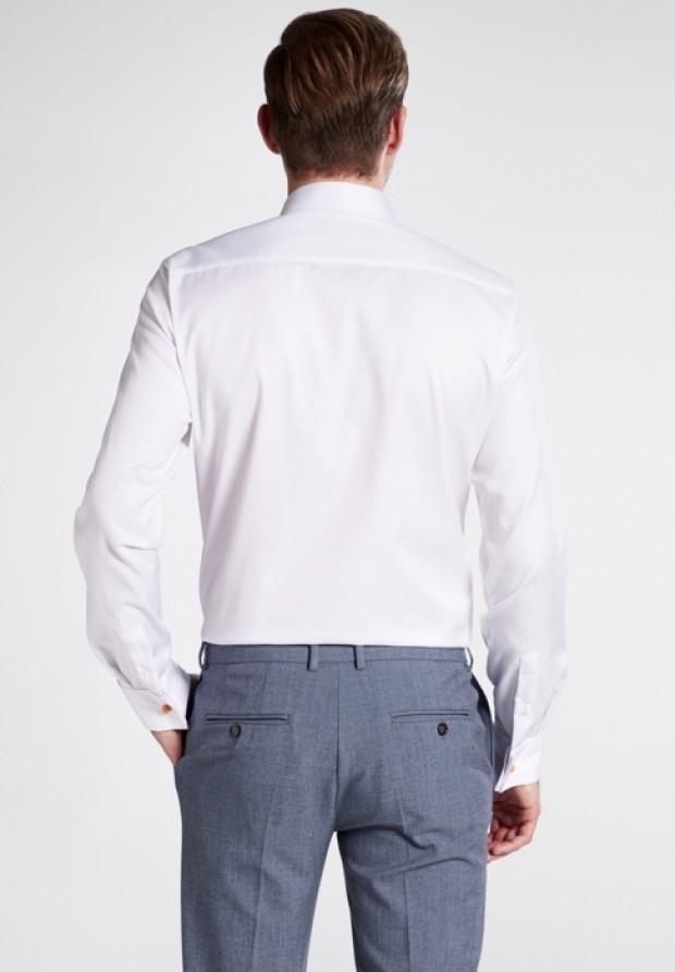 eterna vasalásmentes duplán karcsúsított férfi ing fehér gála - hát