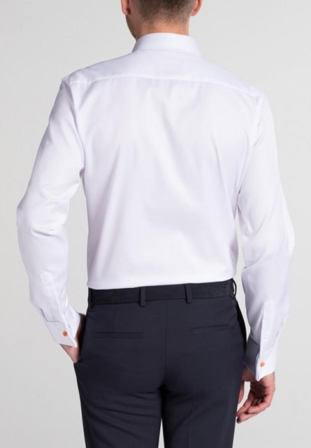 eterna vasalásmentes duplán karcsúsított férfi ing fehér mandzsettás - hát