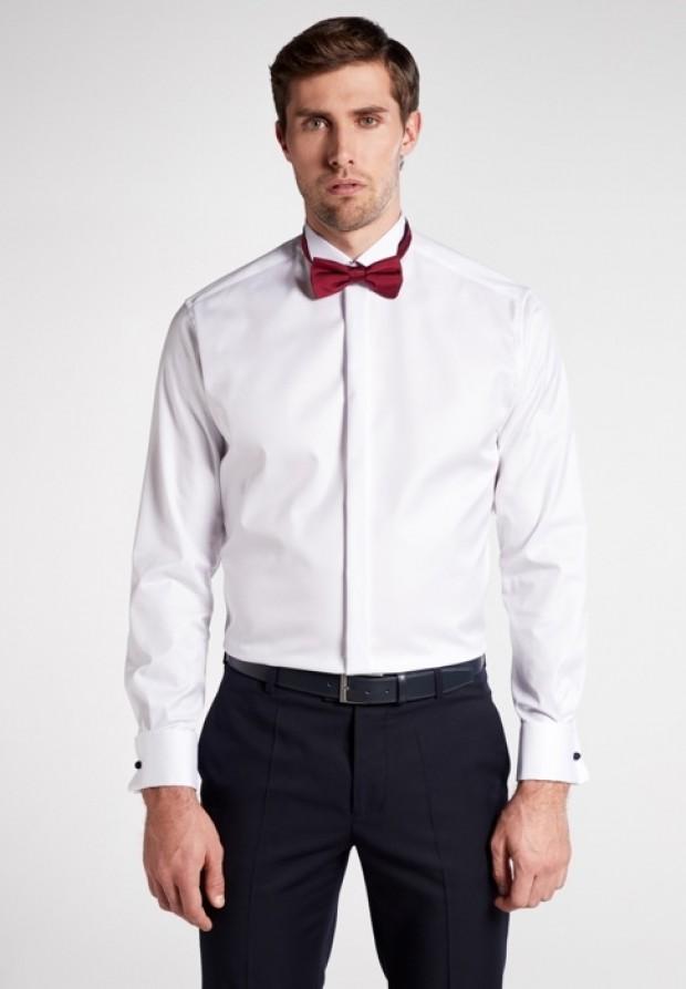 eterna vasalásmentes karcsúsított férfi ing fehér gála - modell