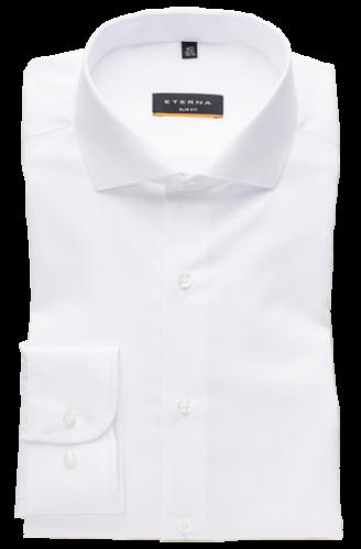 eterna vasalásmentes duplán karcsúsított férfi ing fehér