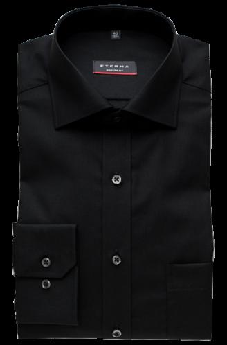 eterna vasalásmentes karcsúsított férfi ing fekete