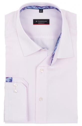 eterna vasalásmentes karcsúsított férfi ing rózsaszín anyagában csíkos