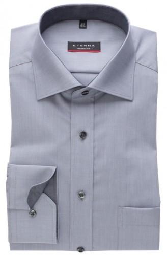eterna vasalásmentes karcsúsított férfi ing szürke