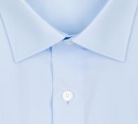 OLYMP vasalásmentes férfi ing karcsúsított világoskék rövid ujjú - gallér