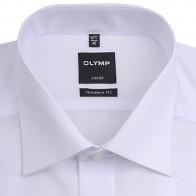 OLYMP vasalásmentes férfi ing karcsúsított fehér hosszított ujjú - gallér