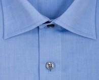 OLYMP vasalásmentes férfi ing karcsúsított kék - gallér