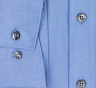 OLYMP vasalásmentes férfi ing karcsúsított kék hosszított ujjú - mandzsetta