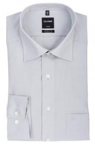 OLYMP vasalásmentes férfi ing karcsúsított világos szürke