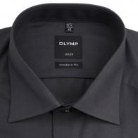 OLYMP vasalásmentes férfi ing karcsúsított sötétszürke - gallér