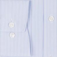 OLYMP vasalásmentes férfi ing karcsúsított kék csíkos hosszított ujjú - mandzsetta