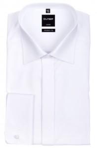 OLYMP vasalásmentes férfi ing karcsúsított fehér gála