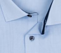 OLYMP vasalásmentes férfi ing karcsúsított világoskék mintás - gallér