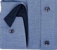 OLYMP vasalásmentes férfi ing karcsúsított sötétkék mintás - mandzsetta