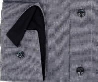 OLYMP vasalásmentes férfi ing karcsúsított szürke mintás - mandzsetta