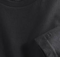 OLYMP férfi póló fekete kerek nyakú - közeli